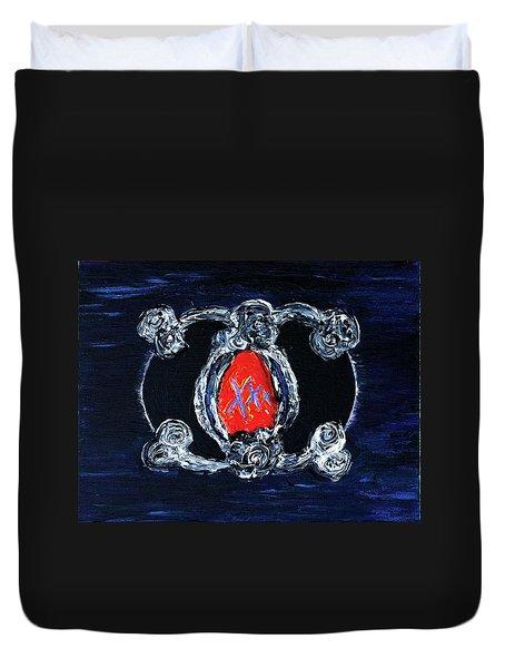 Vesica Black Suns Duvet Cover