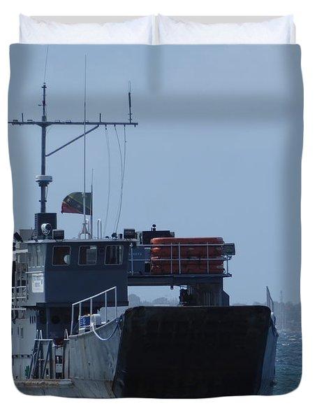 Vestige Of World War II Duvet Cover
