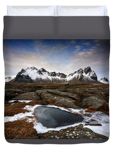 Vestrahorn Duvet Cover by Roddy Atkinson