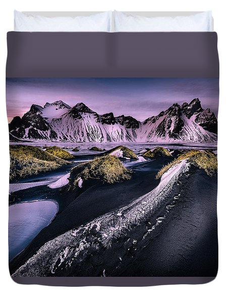 Vestrahorn, South Iceland Duvet Cover