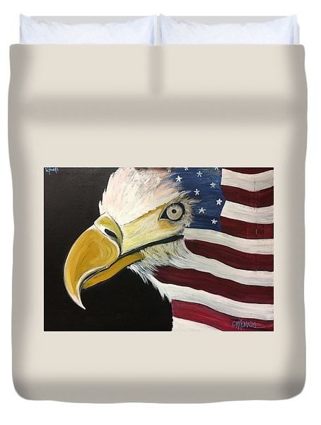 Veteran's Day Eagle Duvet Cover by Laurie Maves ART