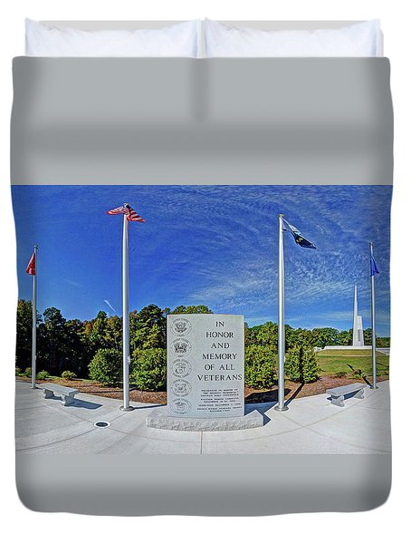 Veterans Freedom Park, Cary Nc. Duvet Cover by George Randy Bass