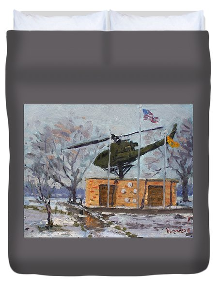 Veterans Memorial Park In Tonawanda Duvet Cover