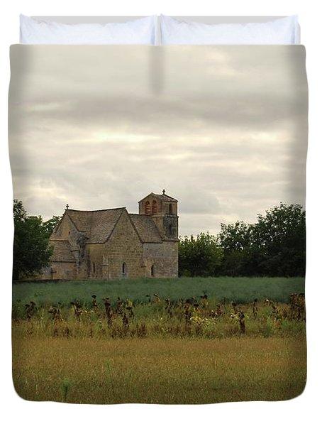Vezac Church 1300 Duvet Cover