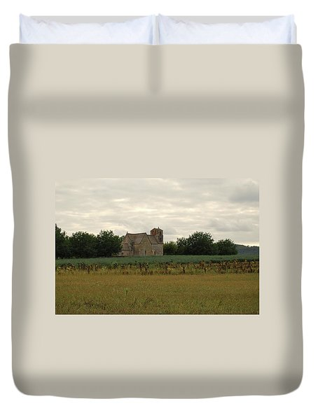 Vezac Church 1300 Duvet Cover