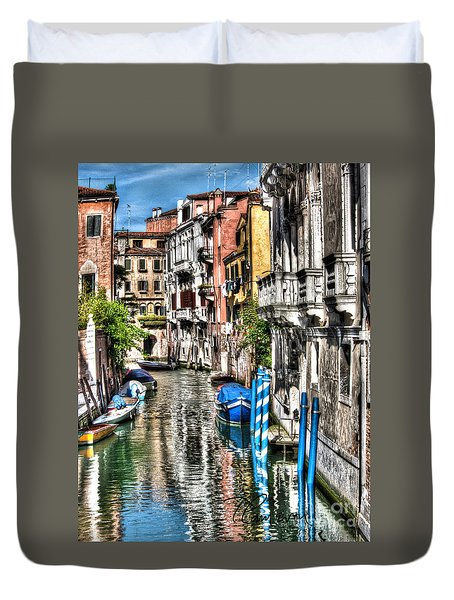 Viale Di Venezia Duvet Cover by Tom Cameron