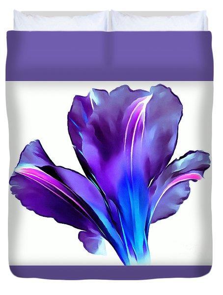 Vibrant Amaryllis Duvet Cover