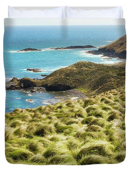 Vibrant Cape Seascape Duvet Cover