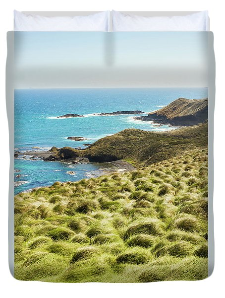 Vibrant Cape Seascape Duvet Cover