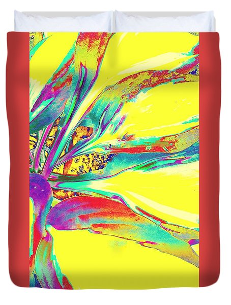 Vibrant Fascination  Duvet Cover by Rachel Hannah