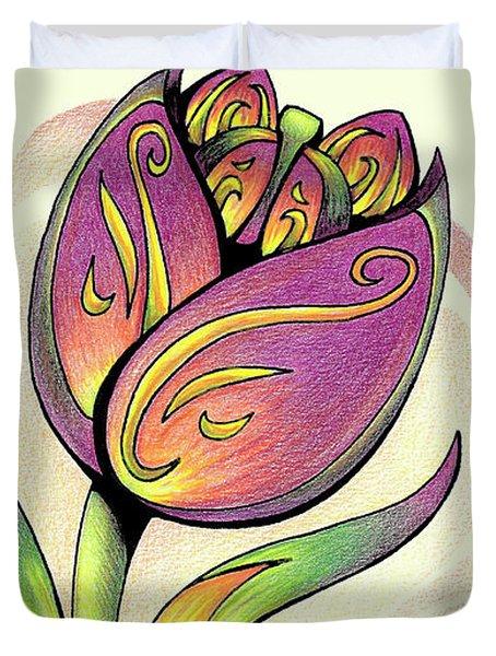 Vibrant Flower 5 Tulip Duvet Cover