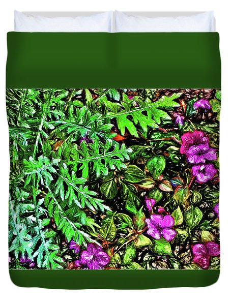 Vibrant Garden Duvet Cover by Terry Cork