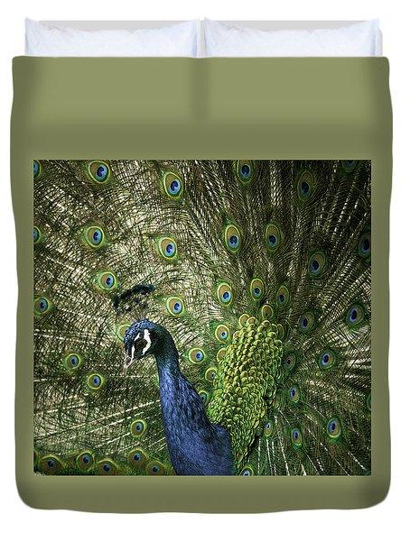 Vibrant Peacock Duvet Cover