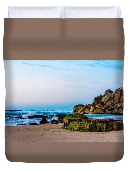 Vibrant Seascape At Twilight Duvet Cover by Marion McCristall