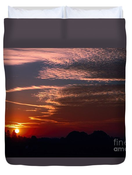 Vibrant Sunset Duvet Cover by Erica Hanel
