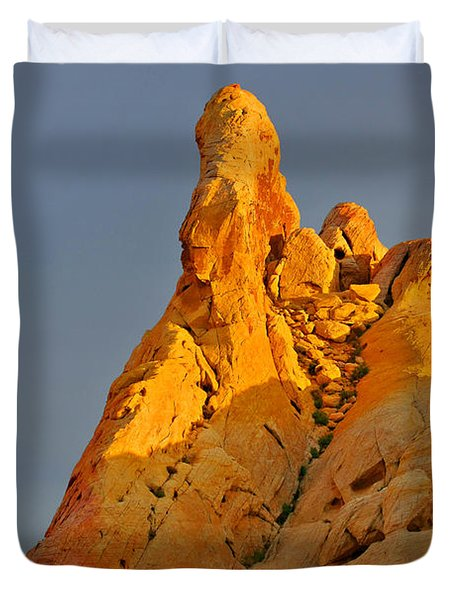 Vibrant Valley Of Fire Duvet Cover by Christine Till