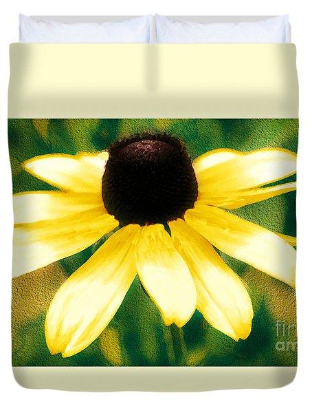Vibrant Yellow Coneflower Duvet Cover