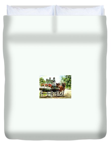 Victoria Bitter, Working Clydesdales. Duvet Cover