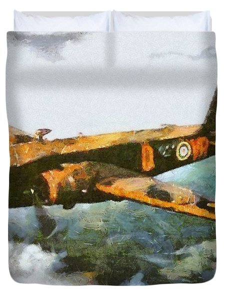 Vickers Wellington Bomber, Wwii Duvet Cover