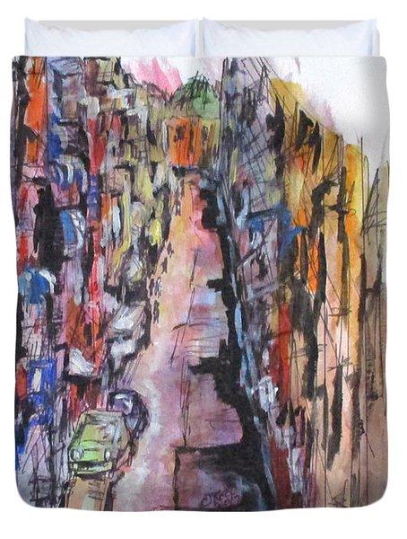 Vicolo De Napoli Duvet Cover by Clyde J Kell