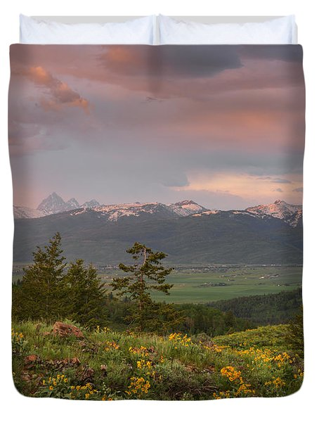 Victor Idaho Sunset Duvet Cover