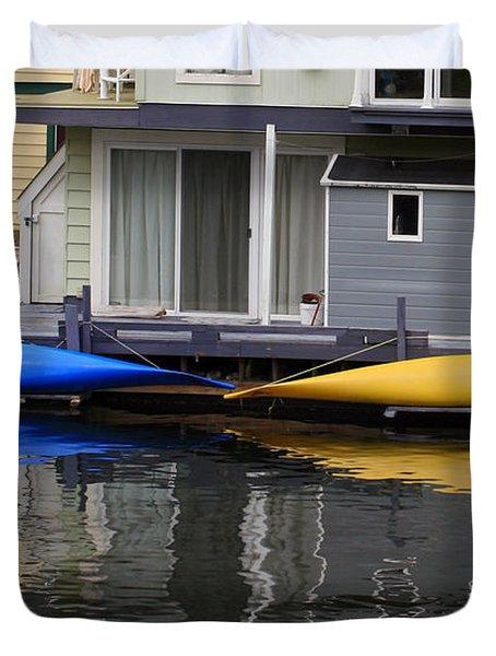 Victoria Boats Duvet Cover