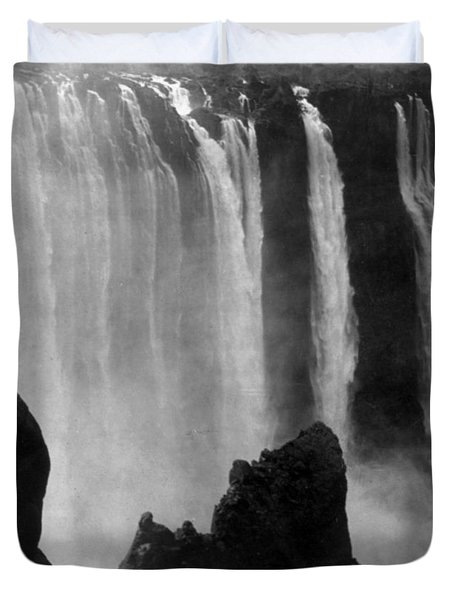 Victoria Falls - C 1911 Duvet Cover by International  Images