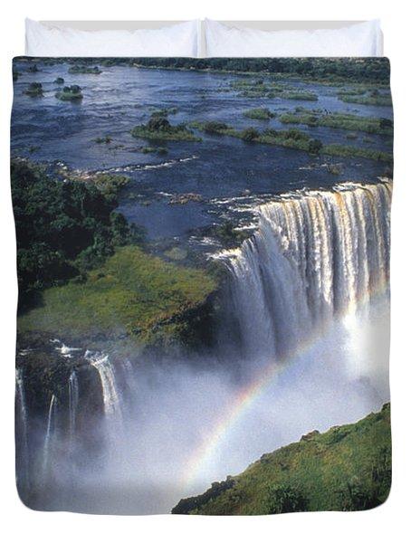 Victoria Falls Rainbow Duvet Cover