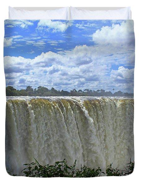 Victoria Falls Zimbabwe Duvet Cover