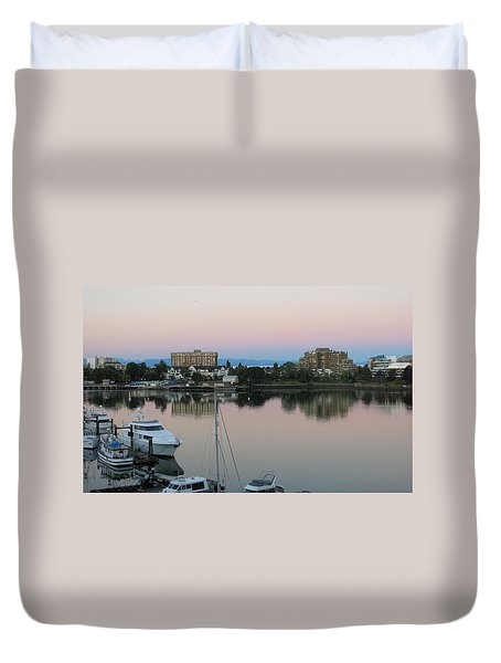 Victoria Harbor Dawn Duvet Cover