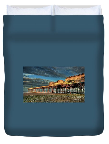 Duvet Cover featuring the photograph Victoria Pier 1899 by Adrian Evans