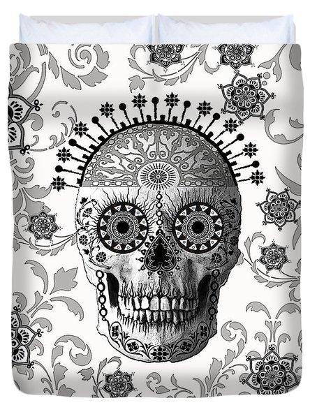 Victorian Bones Duvet Cover by Christopher Beikmann