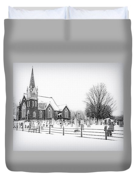 Duvet Cover featuring the photograph Victorian Gothic by Kendall McKernon