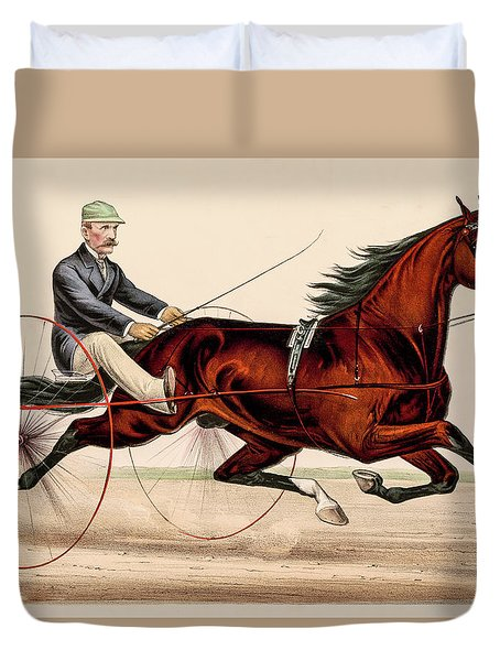 Victorian Horse Carriage Race Duvet Cover