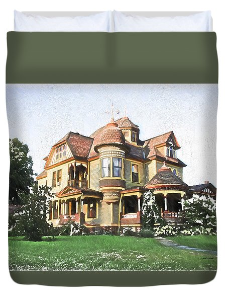 Victorian House Duvet Cover by Ericamaxine Price
