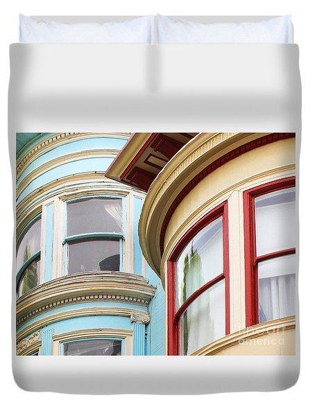 Victorian San Francisco Duvet Cover by Cheryl Del Toro