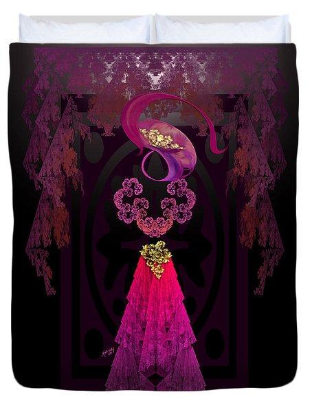 Victorian Silhouette Duvet Cover