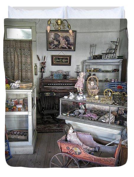 Victorian Toy Shop - Virginia City Montana Duvet Cover by Daniel Hagerman