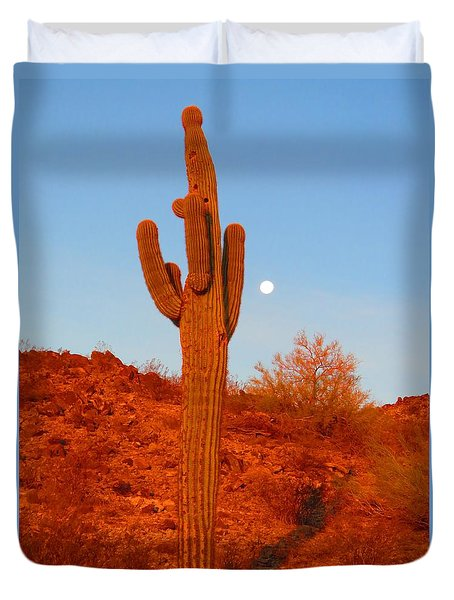 Victor's Harvest Moonset Duvet Cover
