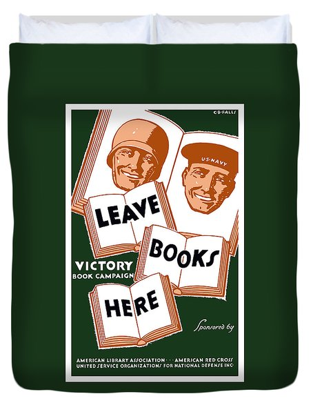 Victory Book Campaign - Wpa Duvet Cover by War Is Hell Store
