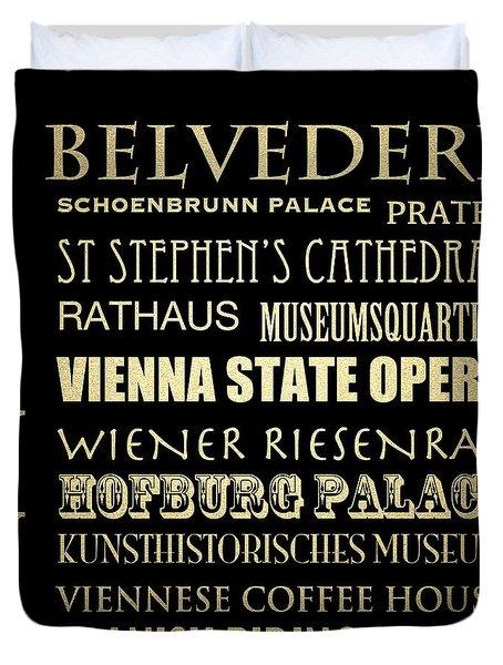Vienna Austria Famous Landmarks Duvet Cover