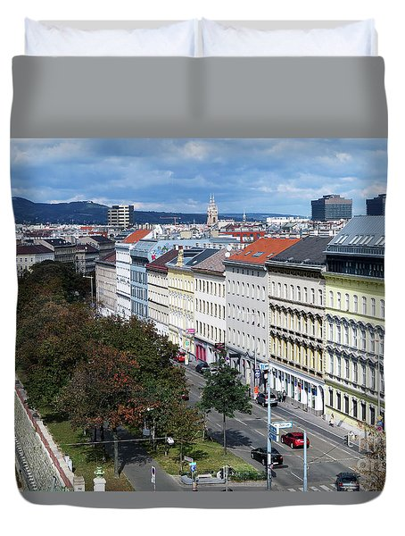 Vienna Beltway Duvet Cover by Christian Slanec