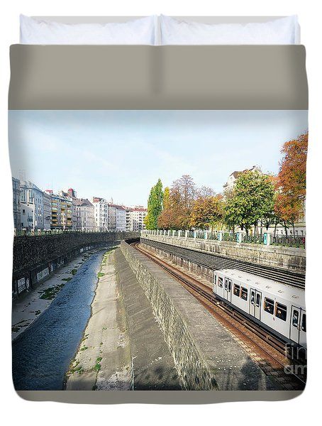 Vienna Canal Duvet Cover by Christian Slanec