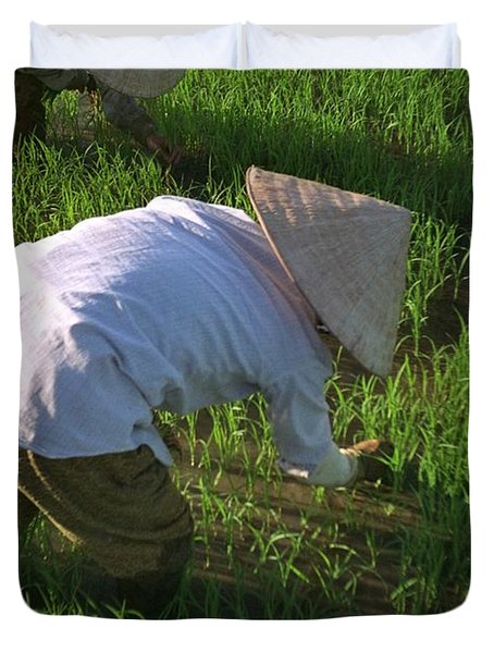 Vietnam Paddy Fields Duvet Cover