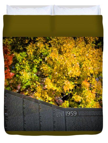 Vietnam Wall Autumn Duvet Cover