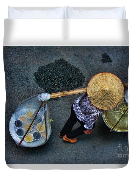 Vietnamese Woman Work Duvet Cover