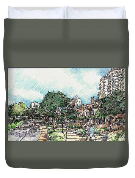 View 1 Duvet Cover by Andrew Drozdowicz