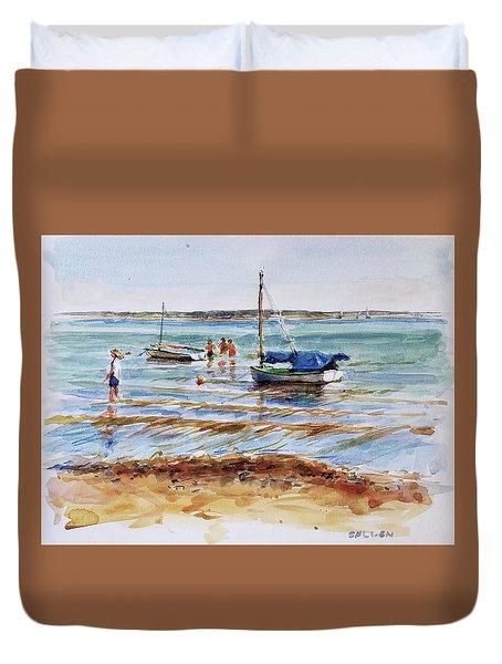 View Across Provincetown Harbor Duvet Cover by Peter Salwen