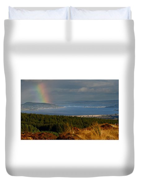 View Down The Beauly Firth  Duvet Cover