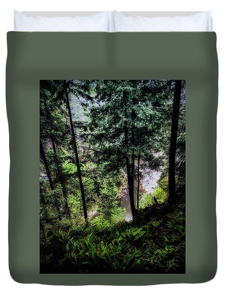 Duvet Cover featuring the photograph View Downhill by Joseph Hollingsworth